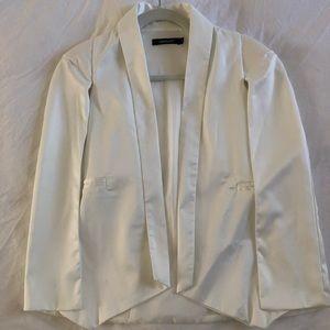 White HAODUOYI open Caped blazer